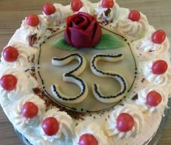 Buttercreme-Torte mit Stevia