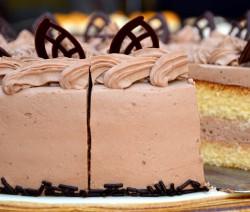 Mokka-Sahne-Torte mit Stevia