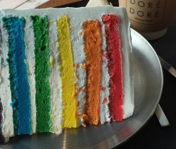 Regenbogenkuchen mit Stevia