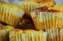 Schoko-Käsekuchen-Muffins mit Stevia