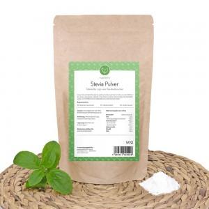 Steviosid Stevia Pulver ist hochdosiert und sehr ergiebig