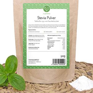 Stevia Pulver ist hochdosiert und sehr ergiebig